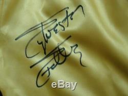 Sylvester Stallone Signée À La Main Jaune Autographié Boxe Shorts Rocky Oa