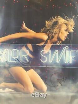 Taylor Swift 1989 Live Neon Lithograph Encadrée Et Signée À La Main 22x22 Autographiée