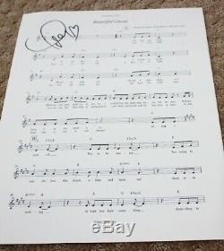 Taylor Swift Cats Chanson Originale Fyc Promo Autograph Signée À La Main Partitions