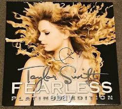 Taylor Swift Hand Signé Fearless Platinum Edition Vinyl Autograph 2x Gold Rsd