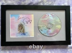 Taylor Swift Lover Signé À La Main CD Cover Me! Autographié 1989 Album Folklore