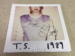 Taylor Swift Signée À La Main Autographié 1989 Vinyle 100% Preuve Authentique