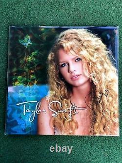 Taylor Swift Signée À La Main Turquoise Vinyle Autograph Authentique Épuisé