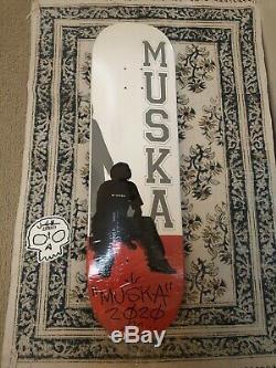 Tchad Muska Skateboards Autograph Main Signedonly 100 Made 1er Solo De Presse