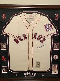 Ted Williams Boston Red Sox Jersey Signée À La Main Vintage Autograph Auto Avec Psa Loa