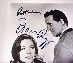 The Avengers Diana Rigg & Patrick Macnee Photographie Autographe Signée Avec Coa