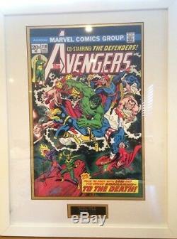 The Avengers Marvel Comics - Présentation Encadrée Et Signée À La Main Par Stan Lee £ 449