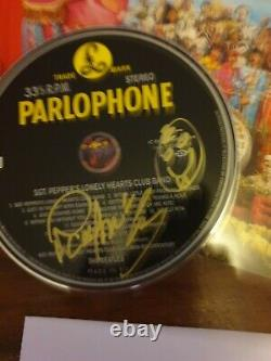 The Beatles Paul Mccartney Main Signée CD With Proof Letter