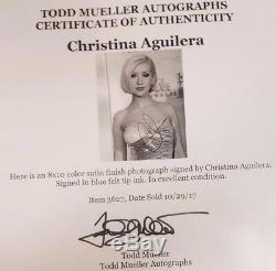 The Voice Christina Aguilera Photo 8x10 En Couleur Signée À La Main Mueller Coa