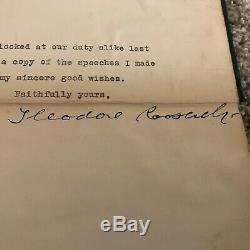Theodore Roosevelt Americanism And Preparednessbook Avec Lettre Signée À La Main