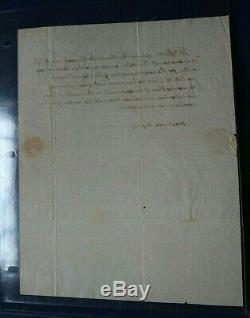 Thomas Jefferson Écrit À La Main Et Signé Lettre Remerciant 76 Association 1817