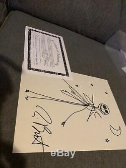 Tim Burton Autographié, Signé Et Signé À La Main Par Jack Skellington Art Withcoa