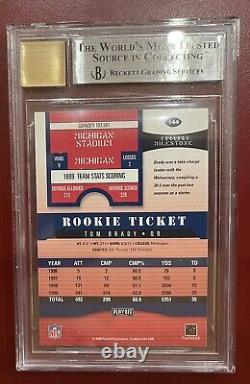 Tom Brady 2000 Contendants De Playoff Bgs 9 10 Auto Rookie Rc Subventions 9.5 9 9 9 No 8.5s