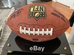 Tom Brady Autographié Des Patriotes Signé Football Tristar Signé À La Main