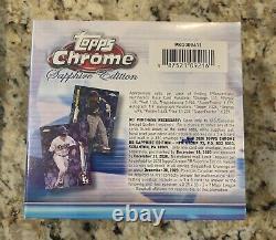 Topps 2020 Bowman Chrome Sapphire Edition Hobby Box Scellé En Main