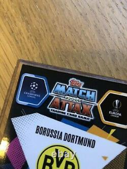 Topps Match Attax Erling Haaland Rookie Signée À La Main Ligue Des Champions Menthe Football