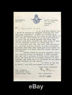 Très Rare Lettre De Condoléances Du Raid Dambusters Signée À La Main Par Guy Gibson Au 617e Escadron