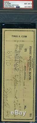 Ty Cobb Psa Adn Autograph 1951 Vérifiez Authentique Signée À La Main