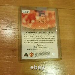 Upper Deck Man Manchester United Ruud Van Nistelrooy Autographe Auto Hand Signé