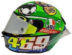 Valentino Rossi Signé À La Main Mugello 2017 Agv Pista Gp-r Casque Hayden Motogp