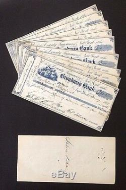Vente En Gros 10 New York City Guerre Civile Maire Véritable Chefs Signés À La Main Daté 1862