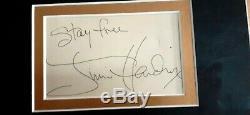Véritable Jimi Hendrix Signée À La Main Signature D'autographes Avec Stay Inscription Gratuite
