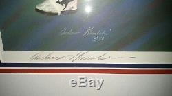 Walter Payton Autographe Lithographie Hof Signée À La Main 20x30 Andrew Goralski Nice