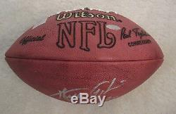 Walter Payton. Autographed Officiel NFL Football. Case Miroir. Avec Steiner Coa