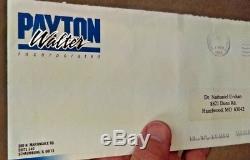 Walter Payton Chèque Personnel Autographié Et Lettre Signé À La Main Pay Price
