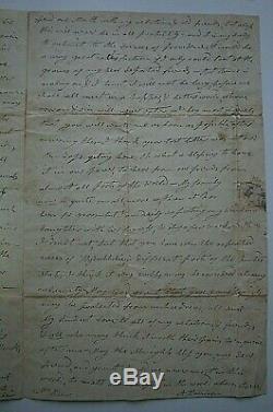 William Henry Harrison Épouse Anna Signé 3 Pg Lettre Dans Sa Main À Un Ami Psa