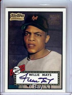 Willie Mays 2001 1952 Legends Équipe Topps Reprint Signée À La Main Auto Autograph Tt1r