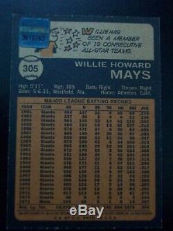 Willie Mays 2001 Équipe Legends 1973 Reprint Topps Signée À La Main Auto Autograph Tt1f