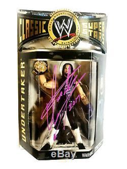 Wwe Classic 1 L'undertaker Signée À La Main Autographié Toy Figurine Avec Coa