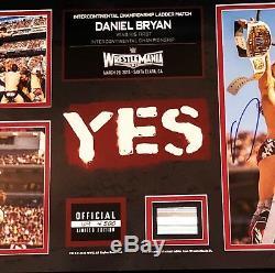 Wwe Daniel Bryan - Plaque Lmtd À 500 Autographiée Et Signée À La Main Auprès De Wrestlemania