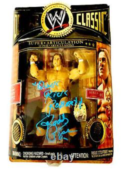 Wwe Deluxe Classic Roddy Piper Main Signée Autographed Action Figure With Coa