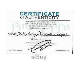 Wwe Hulk Hogan Anneau Worn Nwo Signée À La Main Autographiés Collants Avec Preuve Et Coa