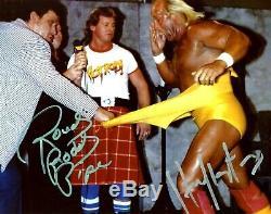 Wwe Hulk Hogan Et Roddy Piper Signée À La Main Autographié 8x10 Photo Avec Coa