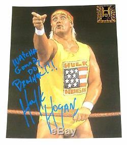 Wwe Hulk Hogan Signée À La Main Autographié 8x10 Photo Avec Hologramme Et Coa 7