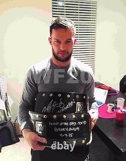 Wwe Nxt Finn Balor Signé À La Main Ceinture De Championnat Nxt Réel Avec Preuve Et Coa 2