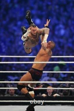 Wwe Randy Orton Ring Signé À La Main Wm 27 Trunks Vs CM Punk Avec Preuve Et Coa