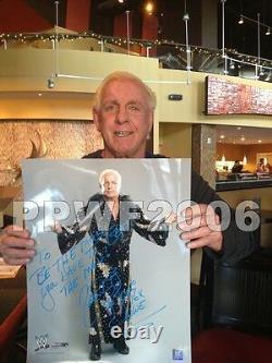 Wwe Ric Flair Signée À La Main Autographié 16x20 Inscribed Photo Avec Proof Et Coa 2