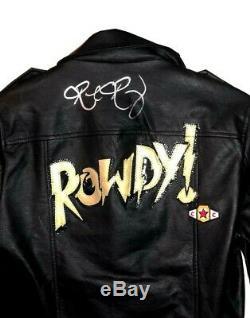 Wwe Ronda Rousey Anneau Worn Signée À La Main Autographié Veste Coa De La Wwe