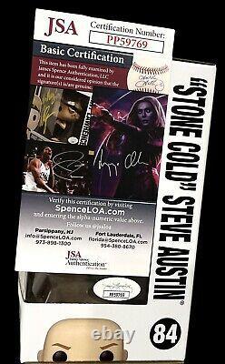 Wwe Stone Cold Steve Austin Signé À La Main Funko Pop Autographié #84 Avec Jsa Coa