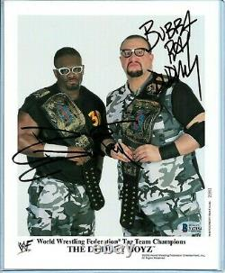 Wwe The Dudley Boyz P-604 Photo De Promo Signée À La Main Avec Beckett Coa
