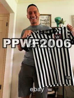 Wwe Triple H Hand Signé Bague Dédicacée Porté Wm34 Ref Shirt With Proof And Coa