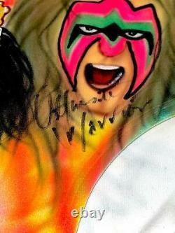 Wwe Ultimate Warrior Hand Signed Autographied Event Worn K&h Wm 7 Trunks Avec Coa