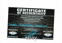 Wwe Ultimate Warrior Original Signé À La Main Pantoufles Autographiées Avec Tags Et Coa