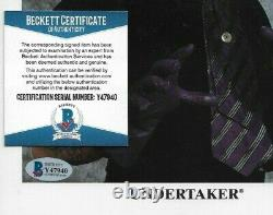 Wwe Undertaker P-250 Hand Signed Autographed 8x10 Promo Photo Avec Beckett Coa