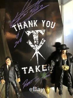 Wwe Undertaker Signée À La Main Autographié Urne Rip Inscription Et La Preuve