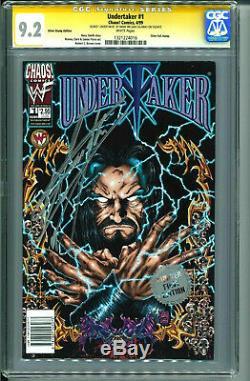 Wwe Undertaker Signée À La Main Autographiés Encapsulées Chaos Comics # 1 Avec Cgc Coa